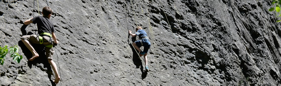 Balzers Liechtenstien Hinterwasser Klettern-min